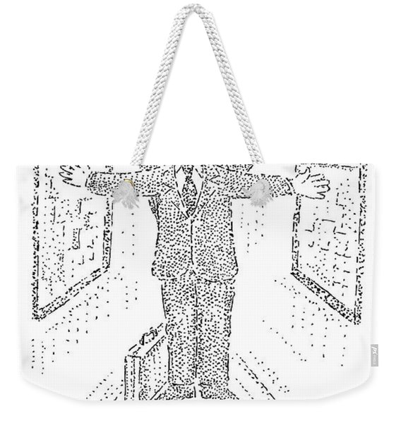 A Real Estate Agent Spreads Out His Arms Weekender Tote Bag