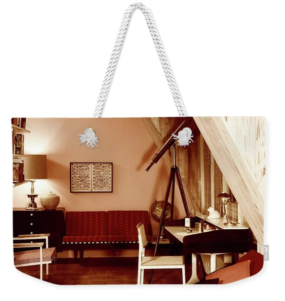 A Red Living Room Weekender Tote Bag