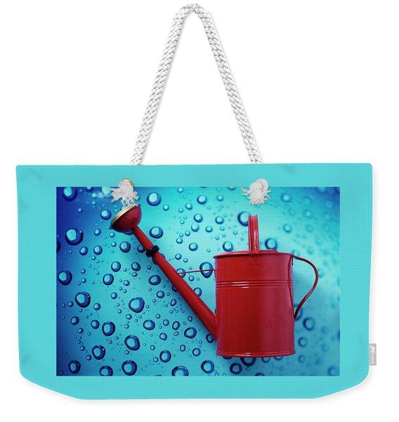 A Red Watering Can Weekender Tote Bag