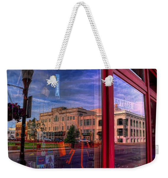 A Reflection Of Wausau's Grand Theater Weekender Tote Bag