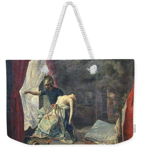 A Rescue In Paris, 1886 Oil On Canvas Weekender Tote Bag