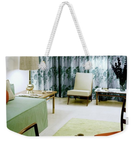 A Retro Bedroom Weekender Tote Bag