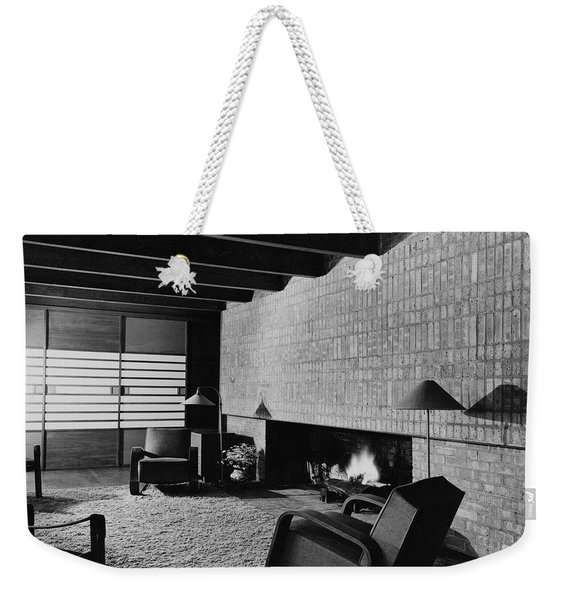 A Rustic Living Room Weekender Tote Bag
