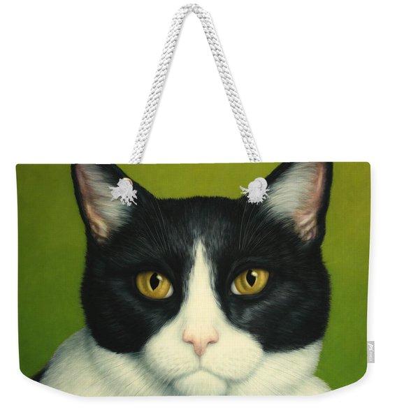 A Serious Cat Weekender Tote Bag