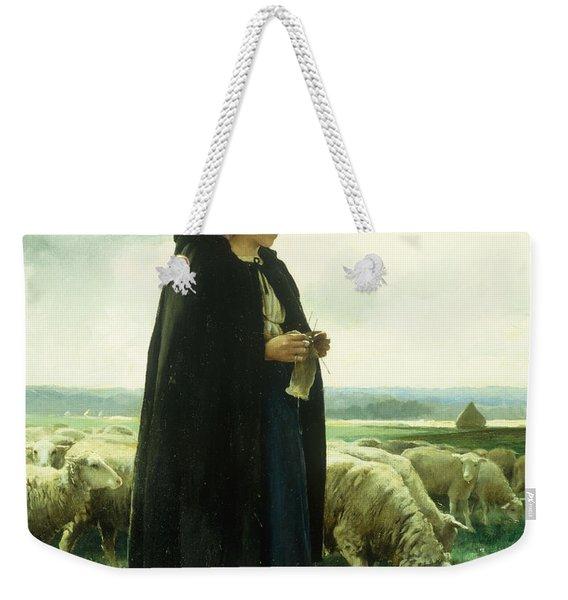 A Shepherdess With Her Flock Weekender Tote Bag
