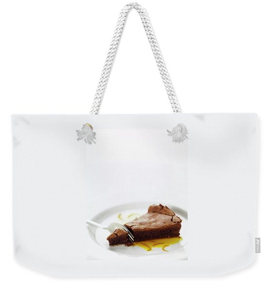 A Slice Of Chocolate Cake Weekender Tote Bag