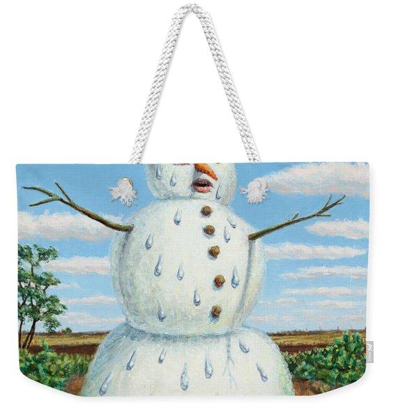 A Snowman In Texas Weekender Tote Bag