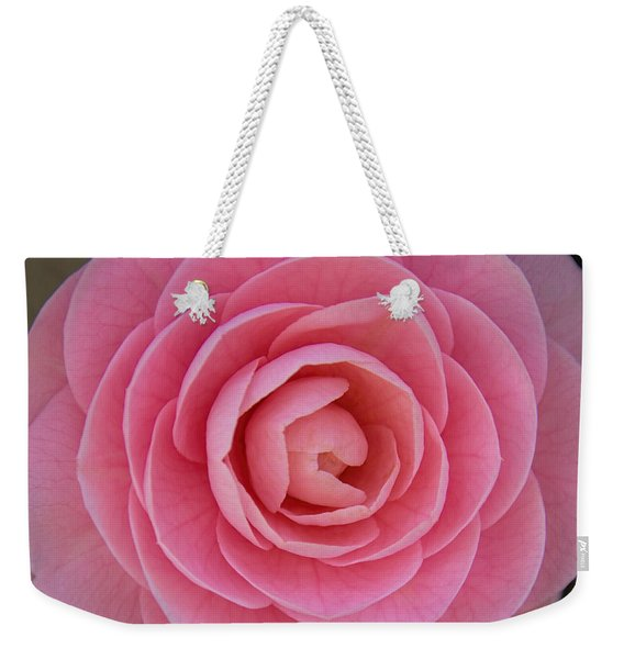 Weekender Tote Bag featuring the photograph A Soft Blush by Jemmy Archer