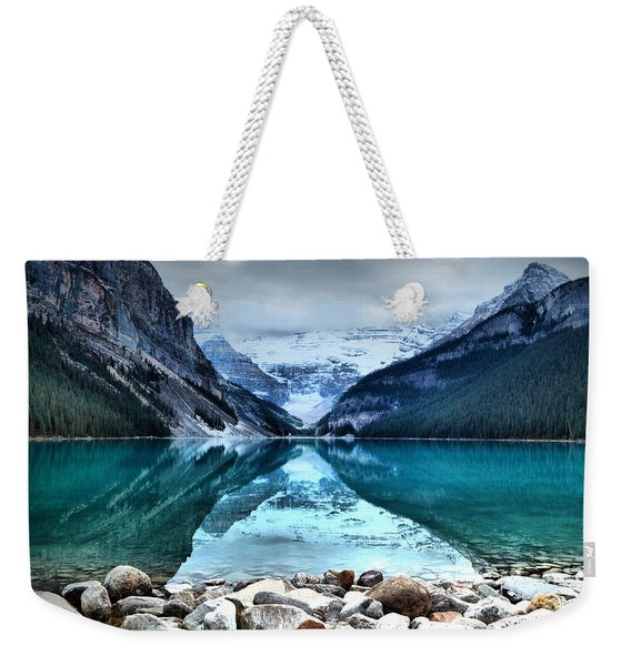 A Still Day At Lake Louise Weekender Tote Bag