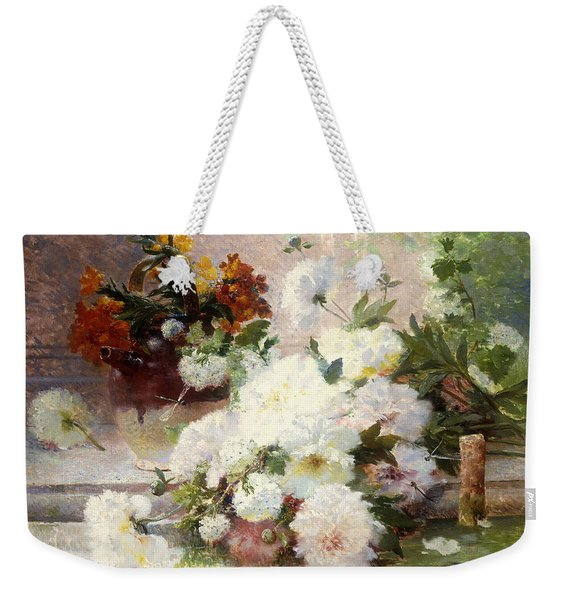 A Still Life With Autumn Flowers Weekender Tote Bag