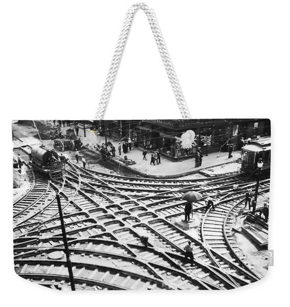 A Streetcar Intersection Weekender Tote Bag