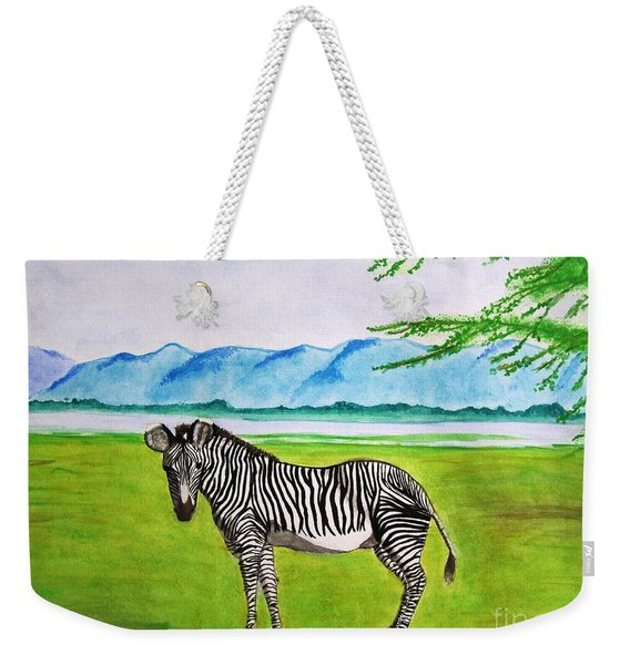 A Striped Chap Weekender Tote Bag