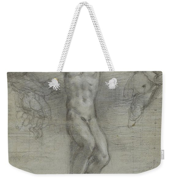 A Study Of Christ On The Cross With Two Weekender Tote Bag