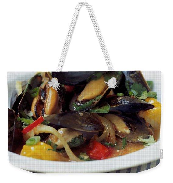 A Thai Dish Of Mussels And Papaya Weekender Tote Bag