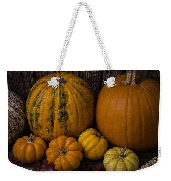 A Thankful Harvest Weekender Tote Bag