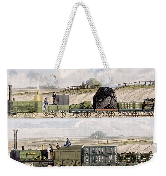 A Train Of Wagons And A Train Weekender Tote Bag