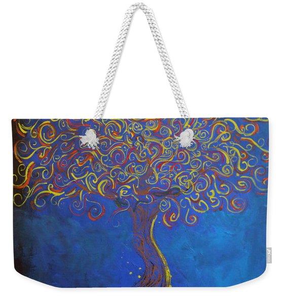 A Tree Of Orbs Glows Weekender Tote Bag