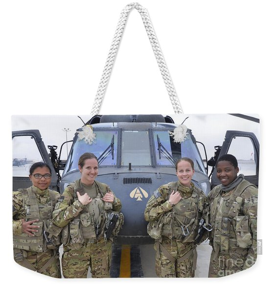 A U.s. Army All Female Crew Weekender Tote Bag