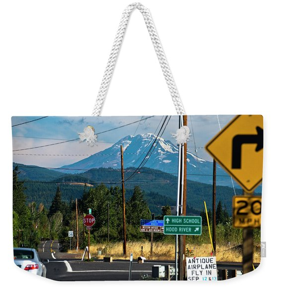 A View Of Mt. Rainier Weekender Tote Bag