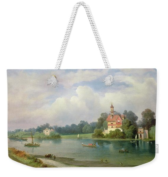 A View Of Popes House And Radnor House At Twickenham Weekender Tote Bag
