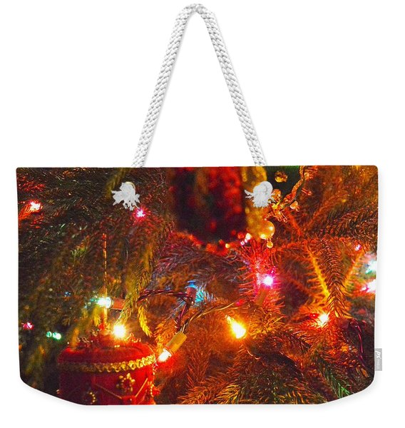 Weekender Tote Bag featuring the photograph A Vintage Christmas  by Laurie Lundquist