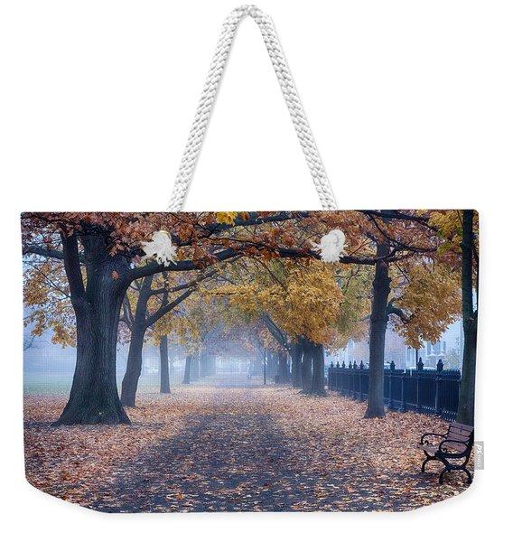 A Walk In Salem Fog Weekender Tote Bag