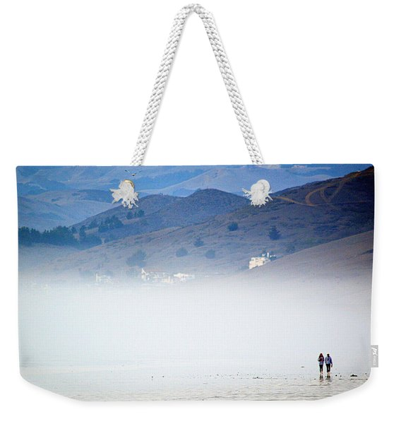 A Walk In The Evening Fog Weekender Tote Bag