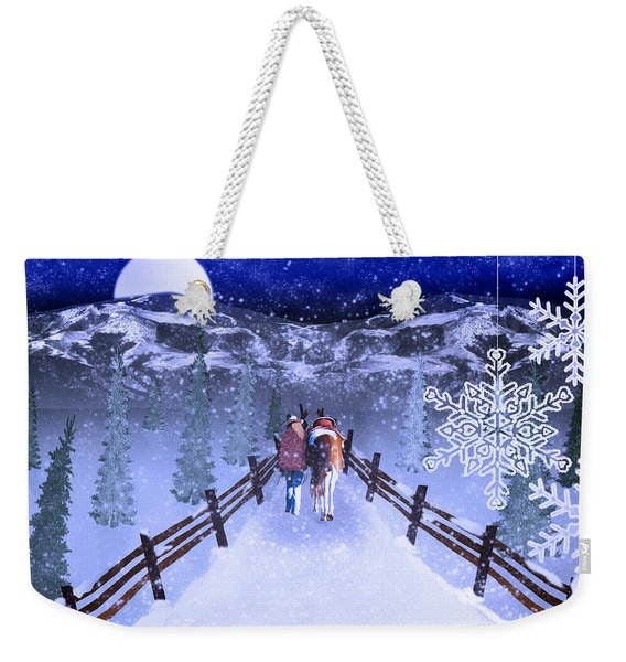 A Walk In The Snow 2 Weekender Tote Bag