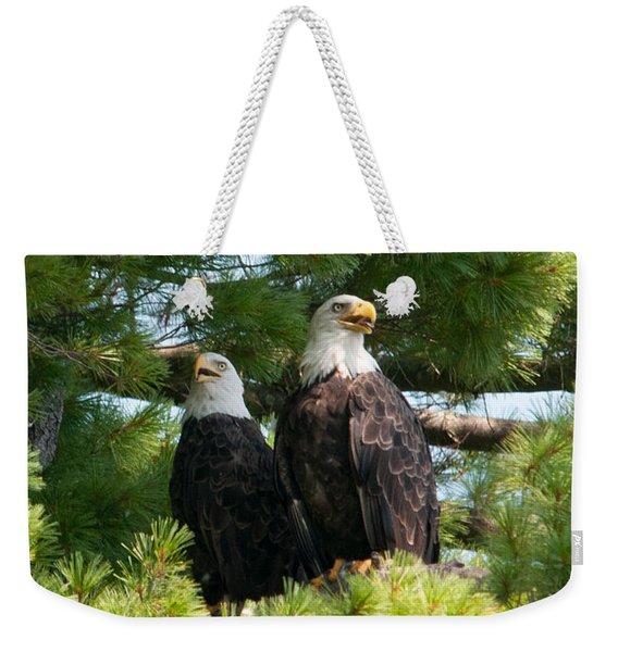 A Watchful Pair Weekender Tote Bag