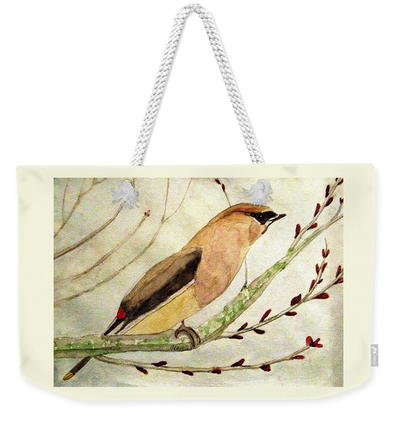A Waxwing In The Orchard Weekender Tote Bag