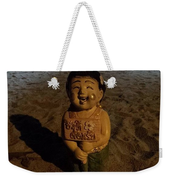 Weekender Tote Bag featuring the photograph A Welcoming Friend On My Night Stroll by Mr Photojimsf