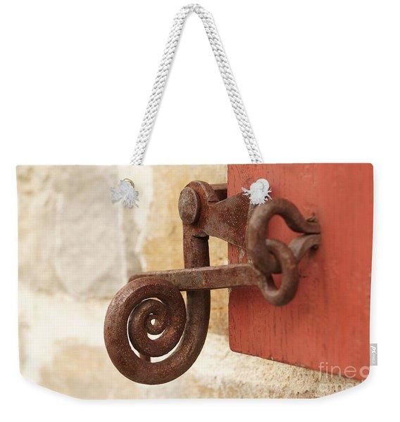 A Window Latch Weekender Tote Bag