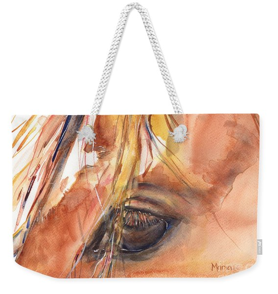 Horse Eye Painting A Wink Of The Eye Weekender Tote Bag