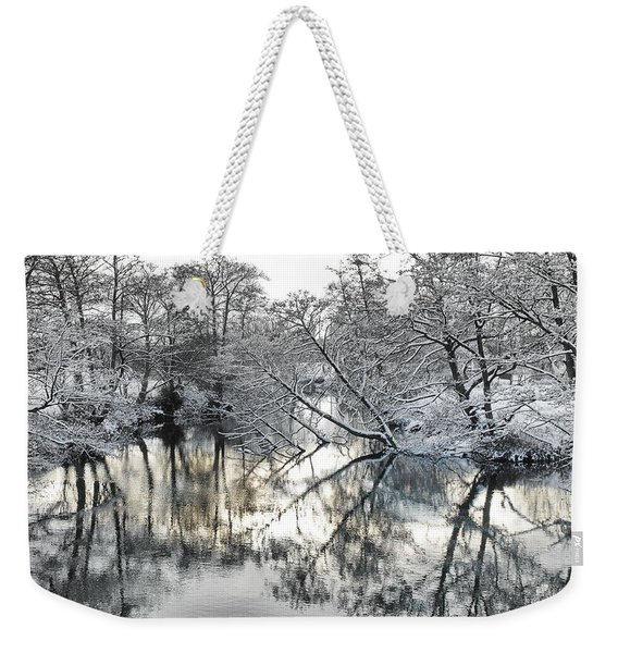 A Winter Scene Weekender Tote Bag