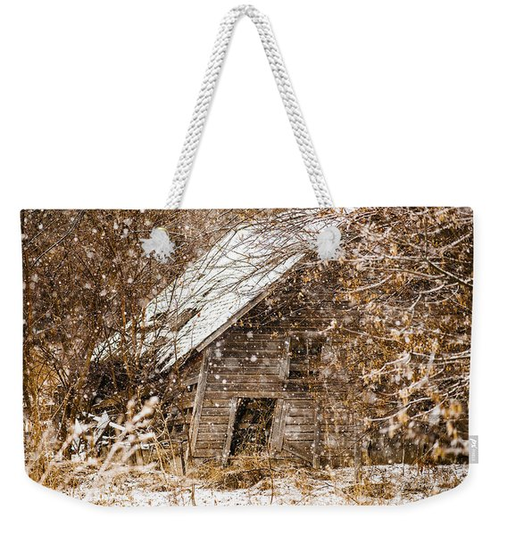A Winter Shed Weekender Tote Bag