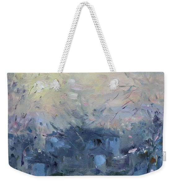 A Winter Sunrise Weekender Tote Bag