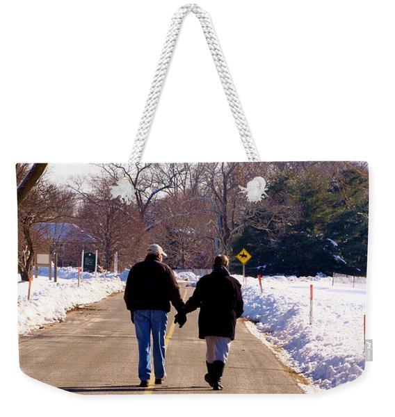 A Winter Walk/inspirational Weekender Tote Bag