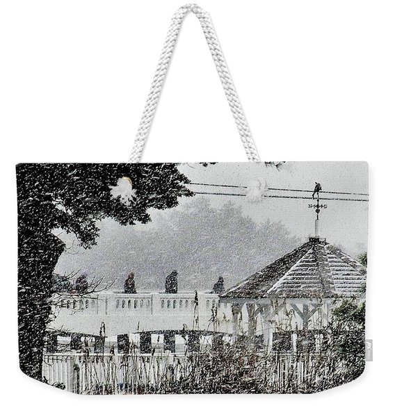 A Winter's Walk By Silver Lake Weekender Tote Bag