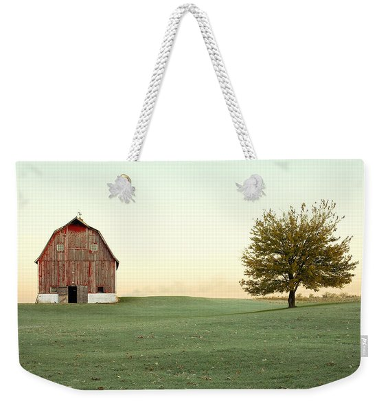A Wisconsin Postcard Weekender Tote Bag