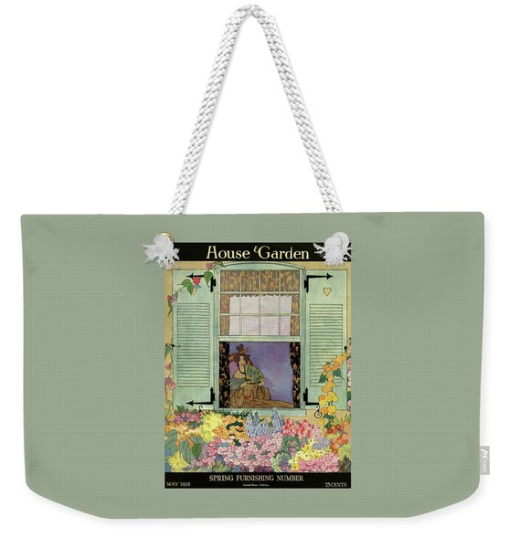 A Woman With A Fan Weekender Tote Bag