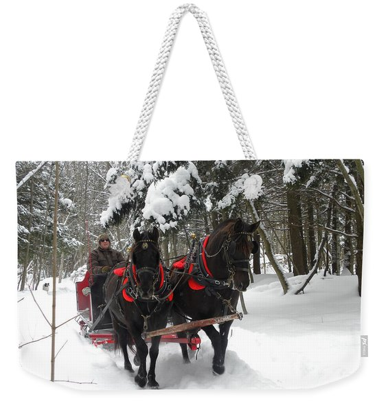 A Wonderful Day For A Sleigh Ride Weekender Tote Bag