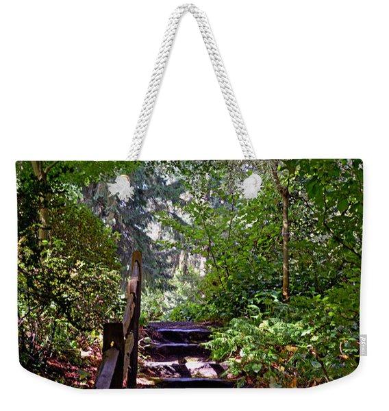 A Wooded Path Weekender Tote Bag