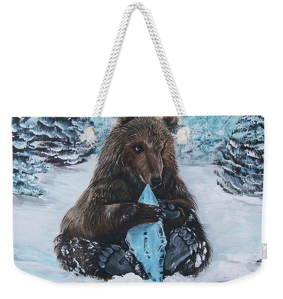 A Young Brown Bear Weekender Tote Bag