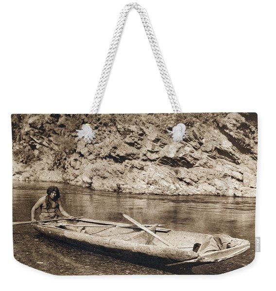 A Yurok In His Dugout Canoe Weekender Tote Bag
