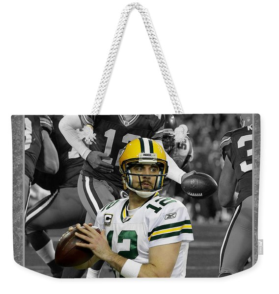 Aaron Rodgers Packers Weekender Tote Bag