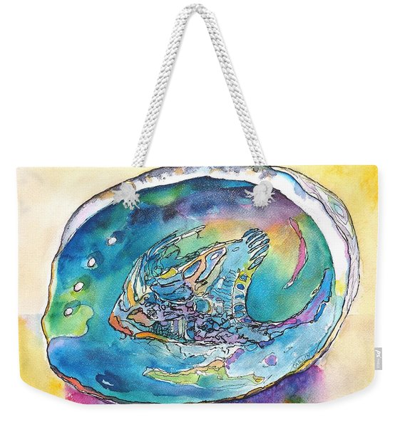 Abalone Shell Tropical Color Weekender Tote Bag