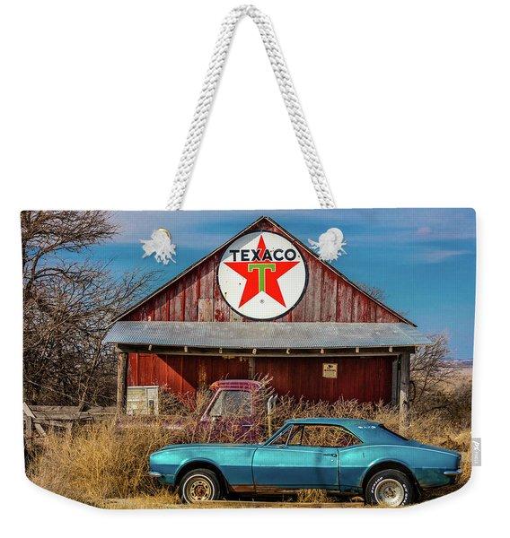 Abandoned Blue Camaro Chevrolete Weekender Tote Bag