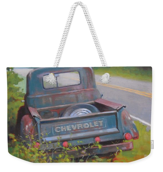 Abandoned Chevy Weekender Tote Bag