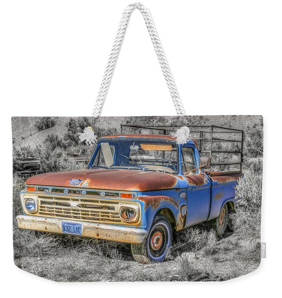 Weekender Tote Bag featuring the photograph Abandoned Pick Up Truck by Susan Leonard