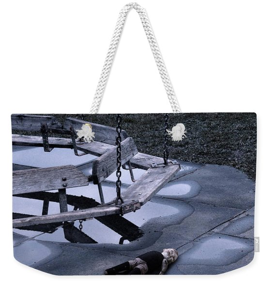 Abandoned Playground With Old Doll Left Behind Weekender Tote Bag